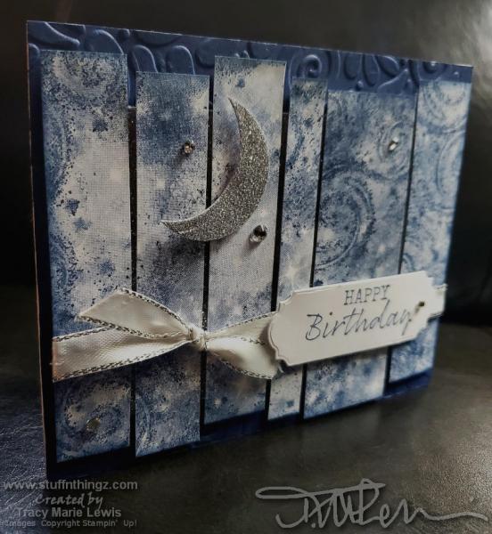 Retiring Showcase - Night Sky Birthday Card | Tracy Marie Lewis | www.stuffnthingz.com