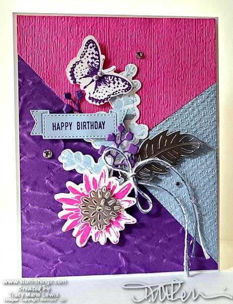 Fun Layout - Bright Colors - Birthday Card  | Tracy Marie Lewis | www.stuffnthingz.com