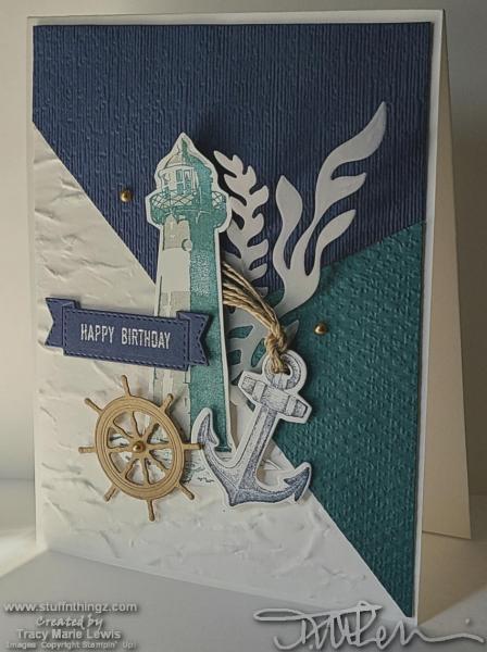 Another Trio Card - Nautical Birthday | Tracy Marie Lewis | www.stuffnthingz.com