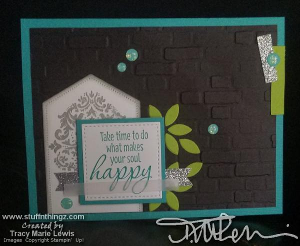 Masculine Happy Card | Tracy Marie Lewis | www.stuffnthingz.com