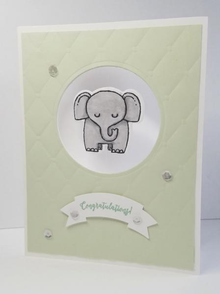 Elephant Baby Card - Retiring | Tracy Marie Lewis | www.stuffnthingz.com