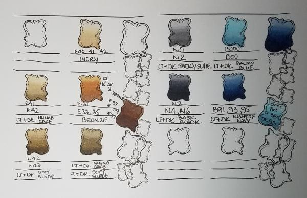 Color Blending Reference Sheets | Tracy Marie Lewis | www.stuffnthingz.com