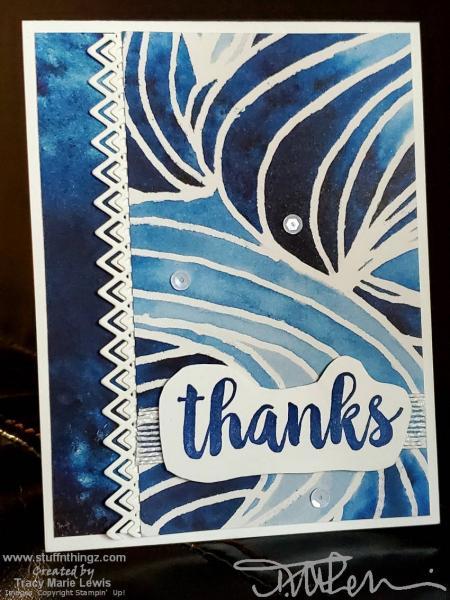 Blueberry Bushel Batique Waves Birthday Card   Tracy Marie Lewis   www.stuffnthingz.com