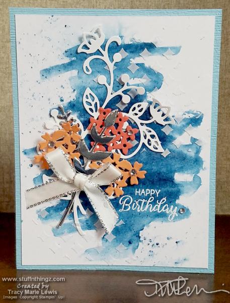 Brusho Flower Bouquet Birthday Card | Tracy Marie Lewis | www.stuffnthingz.com
