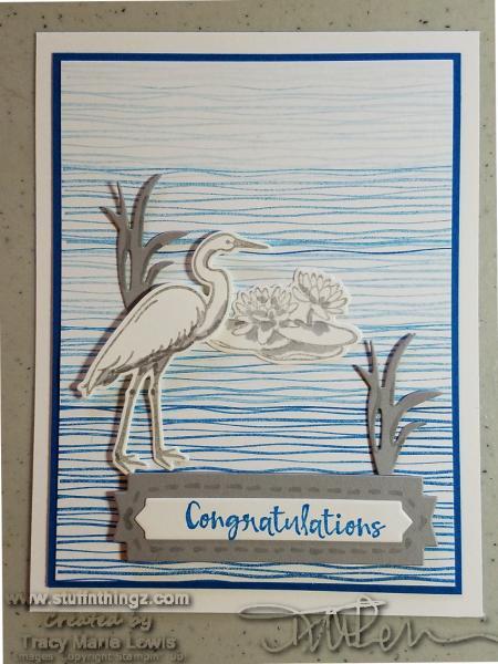 New Catalog Sneak Peek - Heron Congratulations Card | Tracy Marie Lewis | www.stuffnthingz.com