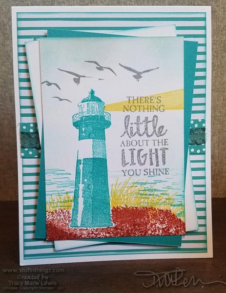 Uplifting Lighthouse Card | Tracy Marie Lewis | www.stuffnthingz.com