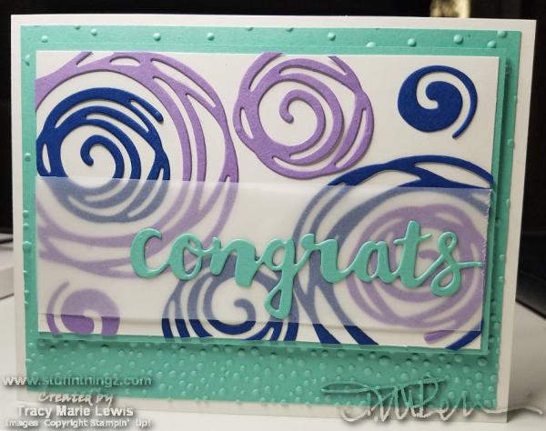 Swirly Congrats Card | Tracy Marie Lewis | www.stuffnthingz.com