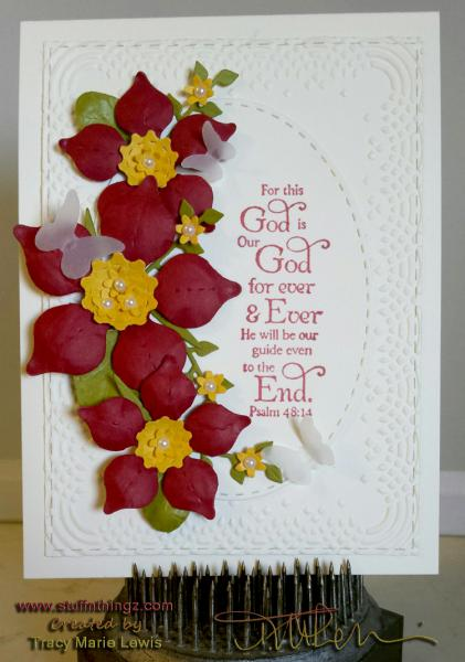 Formed flowers Psalm Card | Tracy Marie Lewis | www.stuffnthingz.com