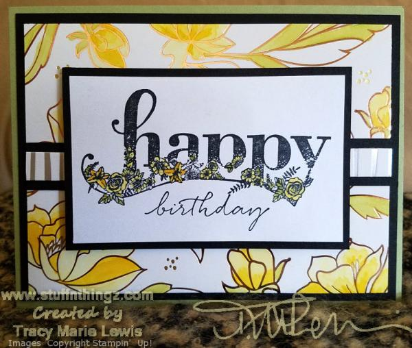 March Colour Combo Blog Hop Card | Tracy Marie Lewis | www.stuffnthingz.com