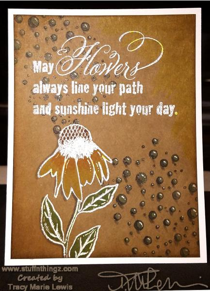 Cone Flower and Sunshine Card | Tracy Marie Lewis | www.stuffnthingz.com