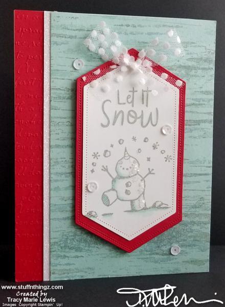 Display - Birch Snowman Let It Snow Card   Tracy Marie Lewis   www.stuffnthingz.com