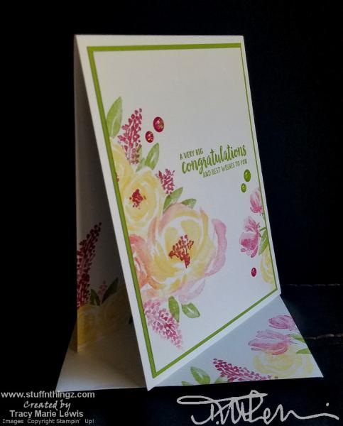 Floral One Layer Card | Tracy Marie Lewis | www.stuffnthingz.com