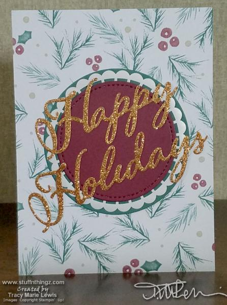 Happy Holidays Card Front | Tracy Marie Lewis | www.stuffnthingz.com
