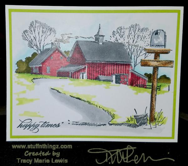 Happy Times Farm Card | Tracy Marie Lewis | www.stuffnthingz.com