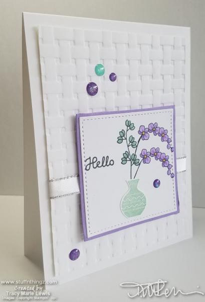 Hello Vase Returning Card | Tracy Marie Lewis | www.stuffnthingz.com