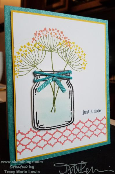 Jar Of Flowers Note Card   Tracy Marie Lewis   www.stuffnthingz.com