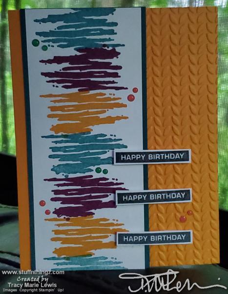Retiring Label Swish Birthday Card   Tracy Marie Lewis   www.stuffnthingz.com