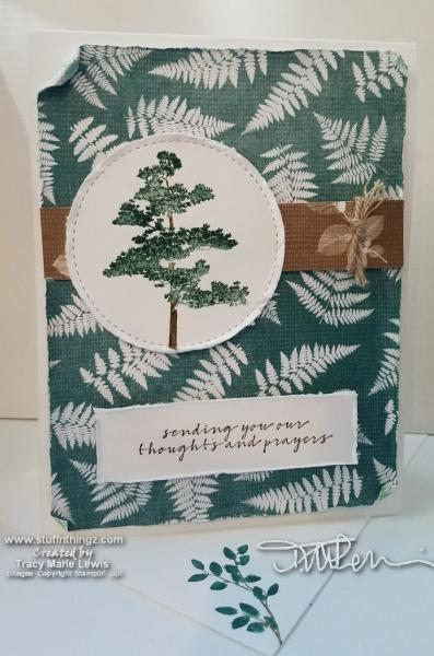 Tree & Ferns Sympathy Card | Tracy Marie Lewis | www.stuffnthingz.com