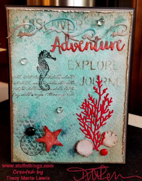 Ocean Adventure Watercolor Card | Tracy Marie Lewis | www.stuffnthingz.com