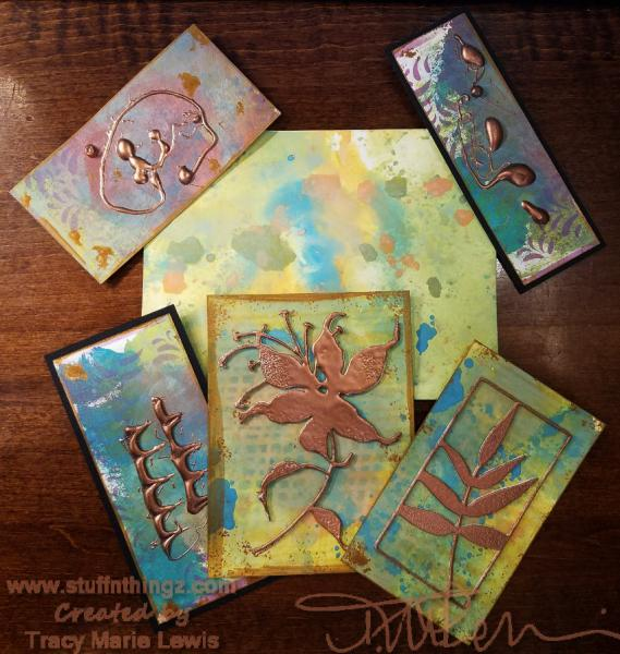 Walkthrough - Tim Holtz Distress Oxide Backgrounds Creation And Uses | Tracy Marie Lewis | www.stuffnthingz.com