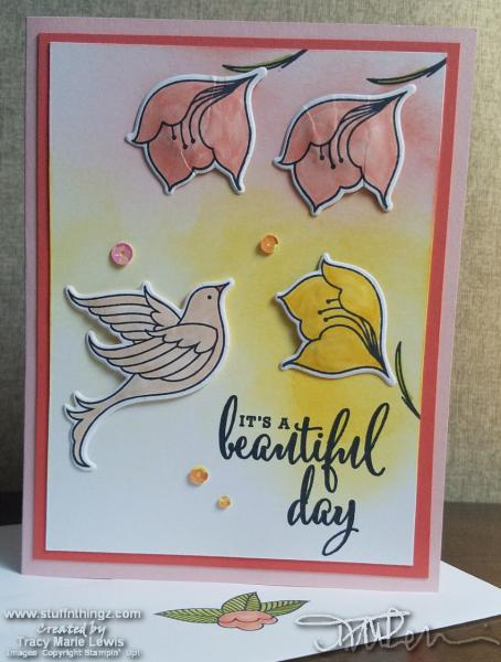 It's A Beautiful Day Dove And Flowers Card