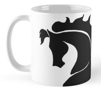 Red Bubble Prancing Horse Mug | Tracy Marie Lewis | www.stuffnthingz.com