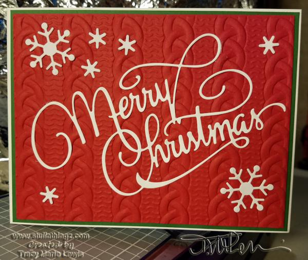 Red Sweater Merry Christmas Card | Tracy Marie Lewis | www.stuffnthingz.com