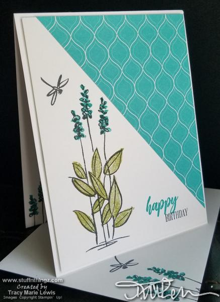 Dragonfly And Flowers Birthday Card | Tracy Marie Lewis | www.stuffnthingz.com