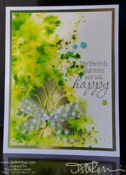 Green Sprinkles Makes You Happy Card | Tracy Marie Lewis | www.stuffnthingz.com