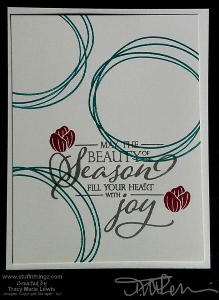 Swirled Christmas Joy Card | Tracy Marie Lewis | www.stuffnthingz.com