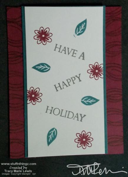 Swirled Holiday Beginner Card | Tracy Marie Lewis | www.stuffnthingz.com