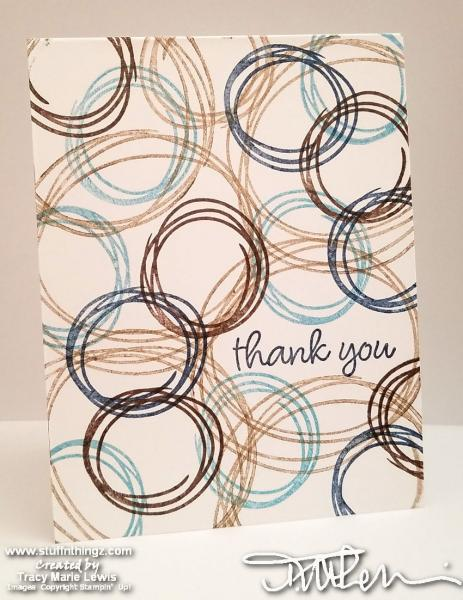 Swirly Masculine Thank You Card   Tracy Marie Lewis   www.stuffnthingz.com