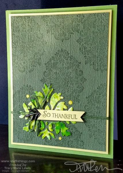 Green So Thankful Card | Tracy Marie Lewis | www.stuffnthingz.com