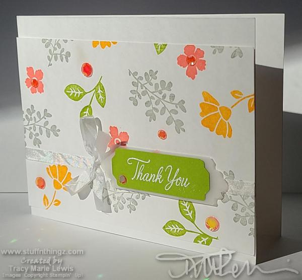 CASEing The New Catty - Casual Floral Background Thank You Card