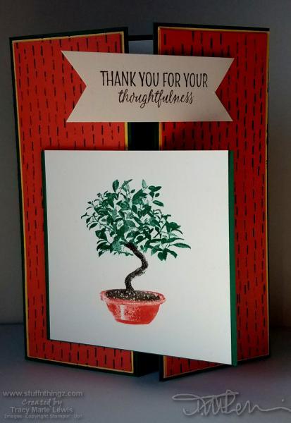 Thoughtful Bonsai Tree Card   Tracy Marie Lewis   www.stuffnthingz.com