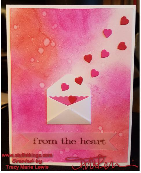 From The Heart in Pinks Card | Tracy Marie Lewis | www.stuffnthingz.com