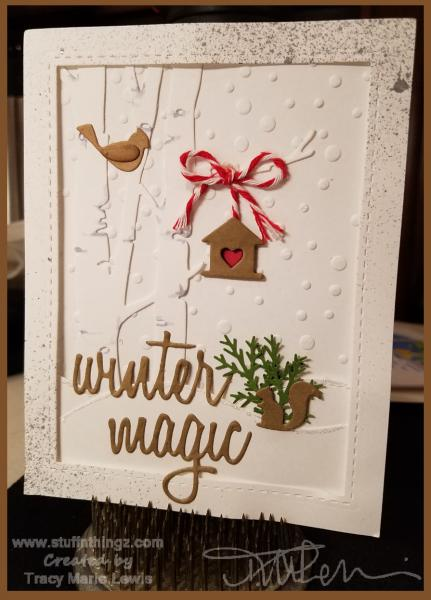 Winter Magic Card | Tracy Marie Lewis | www.stuffnthingz.com
