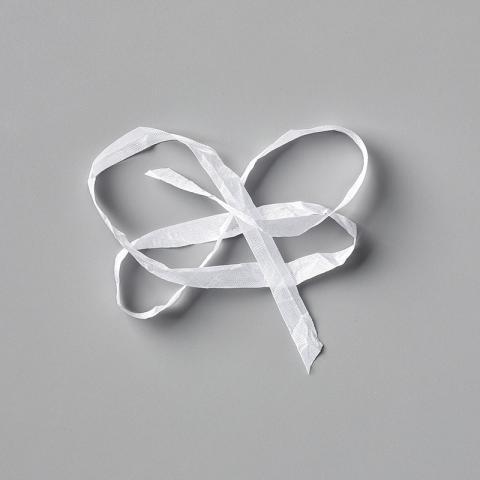 "Whisper White 1/4"" Crinkled Seam Binding Ribbon by Stampin' Up!"