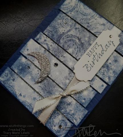 Retiring Showcase - Night Sky Birthday Card Angle | Tracy Marie Lewis | www.stuffnthingz.com