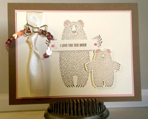 Stamp A Stack Card #1 - Bears: class version | Tracy Marie Lewis | www.stuffnthingz.com