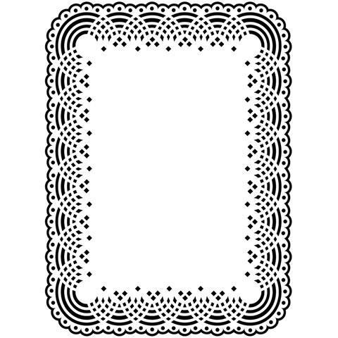 Darice - Doily Lace Frame Embossing Folder | www.stuffnthingz.com