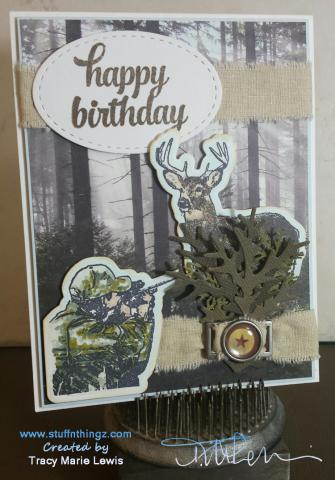 Happy Birthday Hunting Take 1 - Tracy Marie Lewis - www.stuffnthingz.com
