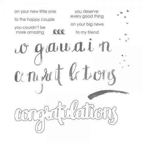 Amazing Congratulations Photopolymer Stamps Set