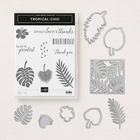 Tropical Chic Clear Mount Bundle | Tracy Marie Lewis | www.stuffnthingz.com