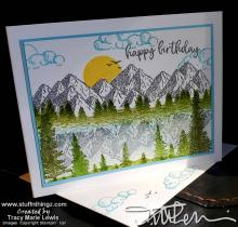 Mountain Air Masculine Birthday Card | Tracy Marie Lewis | www.stuffnthingz.com