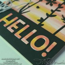 Sunset Hello Card | Tracy Marie Lewis | www.stuffnthingz.com