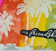 Slimeline Sunday Tropical Friendship Card   Tracy Marie Lewis   www.stuffnthingz.com