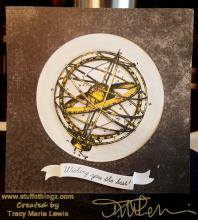 Armillary Sphere Wishing You The Best Card | Tracy Marie Lewis | www.stuffnthingz.com