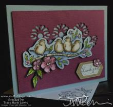 Birds & Flowers Thank You Card | Tracy Marie Lewis | www.stuffnthingz.com
