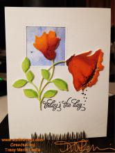 Blooming Poppies with Copics | Tracy Marie Lewis | www.stuffnthingz.com